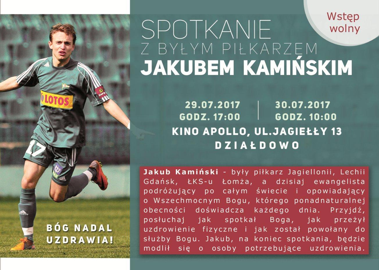 Od piłkarza do ewangelisty – spotkanie z Jakubem Kamińskim